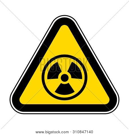 Radiation Hazard Symbol Sign Isolate On White Background,vector Illustration Eps.10