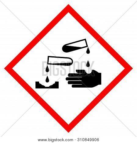 Corrosion Symbol Sign, Vector Illustration, Isolate On White Background Label .eps10