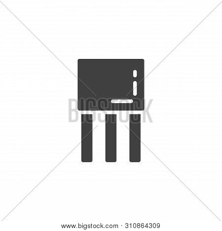 Transistor Chip Vector Icon. Filled Flat Sign For Mobile Concept And Web Design. Semiconductor Devic