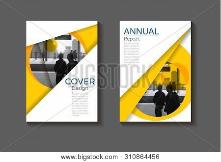 Abstract Yellow Background Modern Cover Design Modern Book Cover Brochure Cover  Template,annual Rep