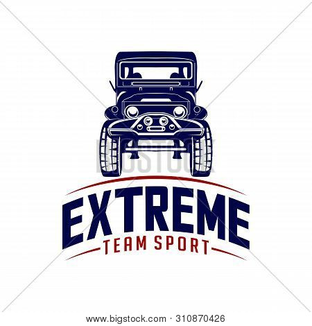 Off-road Car Logo Design Vector. Off-road Extreme Car Club Logo Templates. Vector Symbols