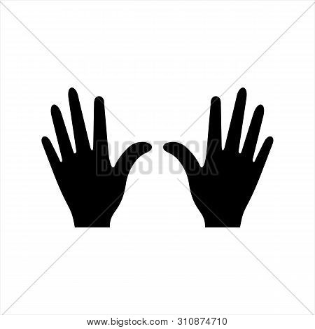 Hands Icon Isolated On White Background. Hand Image, Hand Icon Illustration, Hand Icon Vector, In Tr