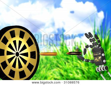 Shooting On A Target