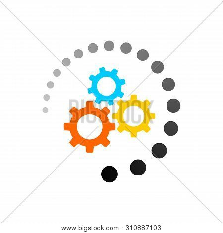 Processing Icon Isolated On White Background. Processing Icon Simple Sign. Processing Icon Trendy An