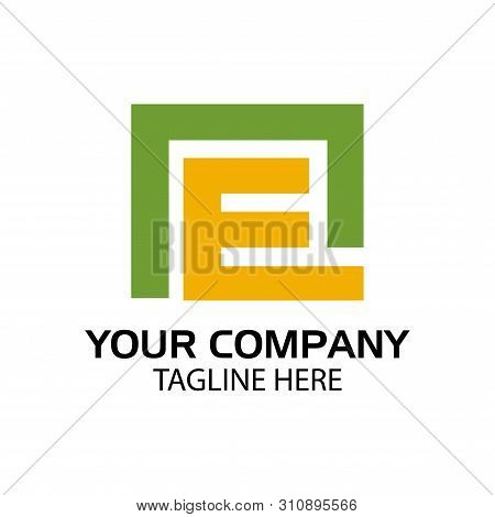 En Logo Template, En Letter, Flat Design. Vector