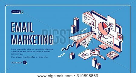 Email Marketing Landing Page. Electronic Mail Messages Automation Business Strategy, Outbound Newsle