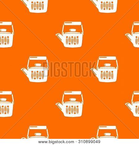 Teatime Pattern Vector Orange For Any Web Design Best