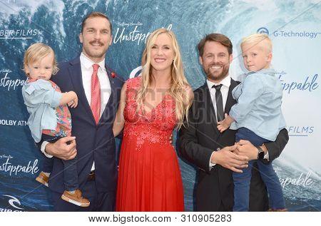 LOS ANGELES - JUL 9:  Adam Dirks, Bethany Hamilton, Aaron Lieber at the