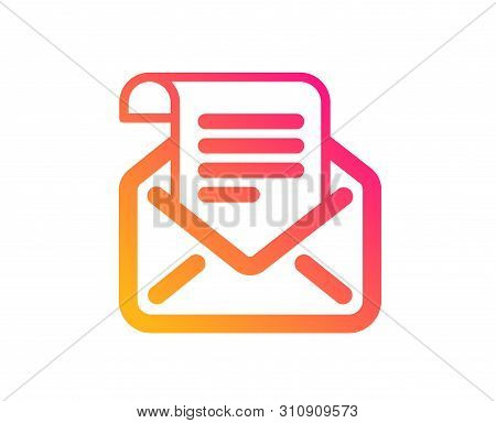 Mail Newsletter Icon. Read Message Correspondence Sign. E-mail Symbol. Classic Flat Style. Gradient
