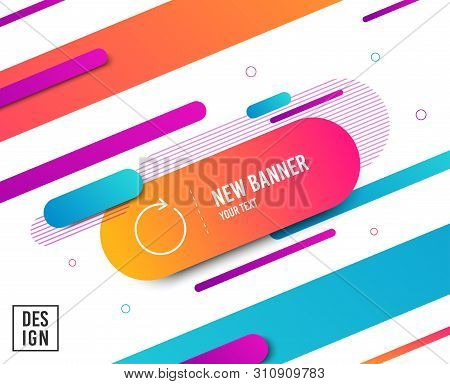Refresh line icon. Rotation arrow sign. Reset or Reload symbol. Diagonal abstract banner. Linear synchronize icon. Geometric line shapes. Vector poster