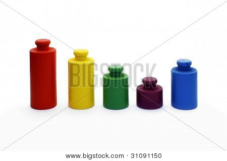 Diagram - colorful weights