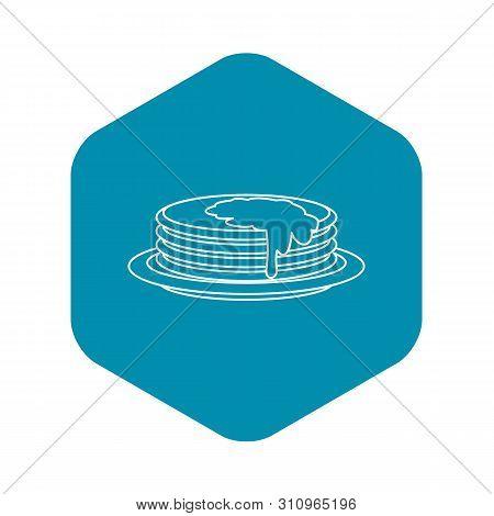 Pancakes Icon. Outline Illustration Of Pancakes Icon For Web
