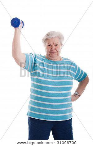 Senior Braces A Dumbbell