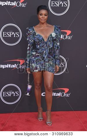 LOS ANGELES - JUL 10:  Gabrielle Union arrives to ESPY Awards 2019  on July 10, 2019 in Hollywood, CA