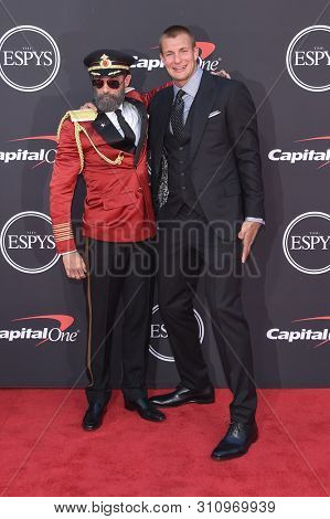 LOS ANGELES - JUL 10:  Rob Gronkowski and Captain Obvious arrives to ESPY Awards 2019  on July 10, 2019 in Hollywood, CA