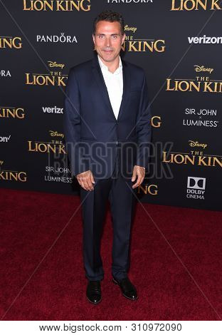 LOS ANGELES - JUL 09:  Rufus Sewell arrives for Disney's 'The Lion King' World Premiere on July 09, 2019 in Hollywood, CA
