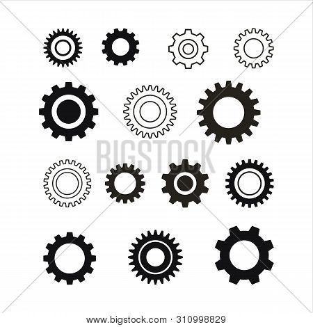 Set Of Gear Icon, Gear Icon Eps10, Gear Icon Vector, Gear Icon Image, Gear Icon Vector Design Illust