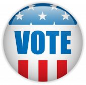 Vector - United States Election Vote Button. poster
