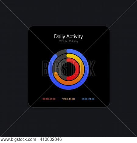 Daily Activity Ui Interface Concept. Vector Illustration