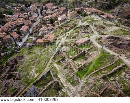 Aerial View Of The Antique And Touristic Village Of Patones