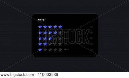 Rating Stars Widget Ui Interface Template. Vector Illustration