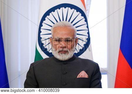 Delhi,india,january 2021,india Prime Minister Narendra Modi In Meeting