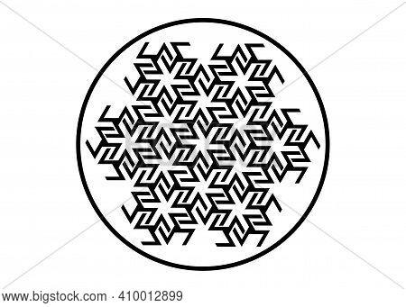 Antahkarana Mandala Ancient Symbol Of Healing And Meditation, Used In Tibet And China. Sacred Geomet