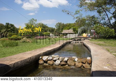 San Kamphaeng Hot Springs Onsen In Mae On District For Thai People And Foreign Travelers Travel Visi