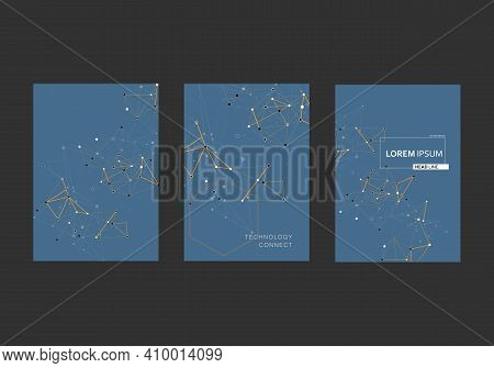 Polygonal In Origami Style On White Background. Internet Technology. Vector Pattern. Communication N