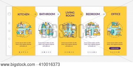 Help Maintain Clutter-free Home Onboarding Vector Template. Accumulate Clutter. Responsive Mobile We