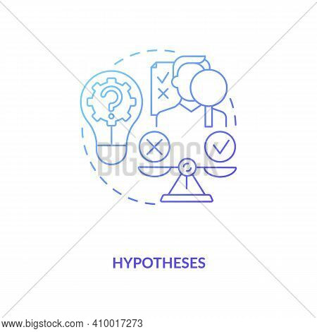 Hypothesis Concept Icon. Specific, Clean And Testable Guesses Of Researchers Idea Thin Line Illustra