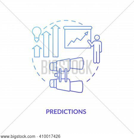 Predictions Concept Icon. Quantify Probability Idea Thin Line Illustration. Event Happening In Futur