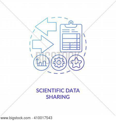 Scientific Data Sharing Concept Icon. Publishing Research In Conferences Idea Thin Line Illustration