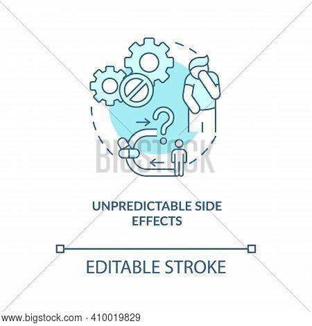 Unpredictable Side Effects Concept Icon. Online Pharmacy Idea Thin Line Illustration. Buying Drugs A