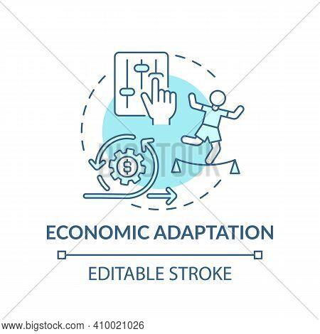 Economic Adaptation Concept Icon. Changes In Behavior Of Economic Climate Idea Thin Line Illustratio