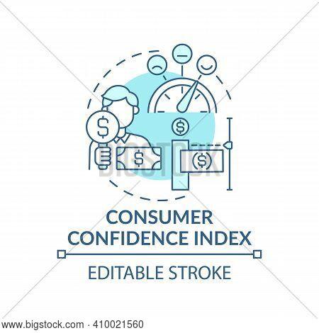 Consumer Confidence Index Concept Icon. Financial Situation Of Population Idea Thin Line Illustratio