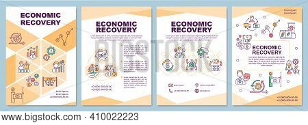 Economic Recovery Brochure Template. Process Of Economic Adaptation. Flyer, Booklet, Leaflet Print,