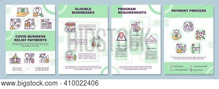 Covid Business Relief Payments Brochure Template. Eligible Businesses. Flyer, Booklet, Leaflet Print