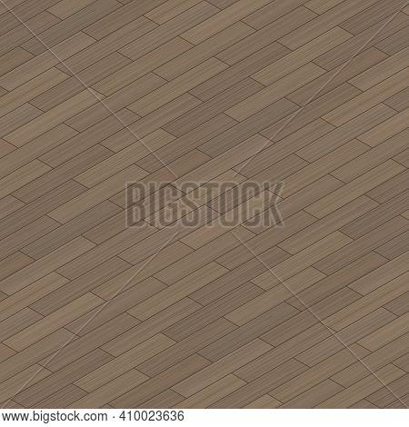 Isometric Wooden Floor Texture. Vector Background. Wooden Parquet, Isometric. Flooring Wooden Patter
