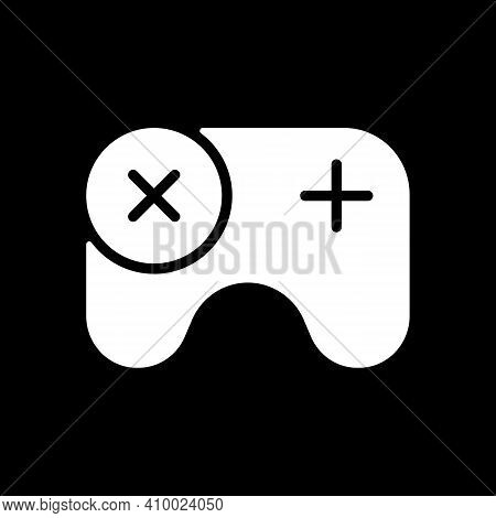 Games App Dark Mode Glyph Icon. Gameplay Feature. Pc, Mobile And Console Games. Virtual Entertainmen