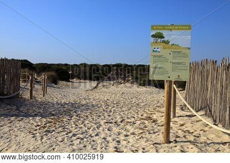 Es Trenc, Majorca / Spain - August 25, 2016: Es Trenc Beach, Colonia De Sant Jordi, Mallorca, Balear