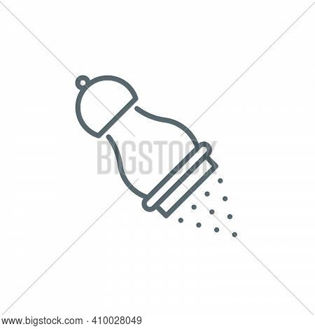 Pepper Shaker Icon, Color, Line, Outline Vector Sign, Linear Style Pictogram Isolated On White. Symb