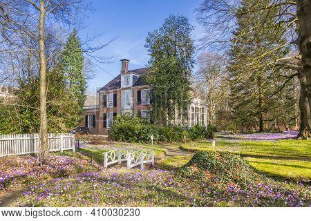 Garden Of The Overcingel Mansion In Spring In Assen, Netherlands
