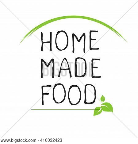 Home Made Food Label And High Quality Product Badges. Bio Organic Product Pure Healthy Eco Food Orga