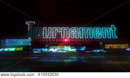 Tournament Esport Game Abstract Concept 3D Illustration