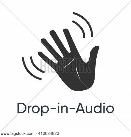 Drop In Audio, Concept For Voice Chat. Clubhouse Drop In Audio. Clubhouse Invitation
