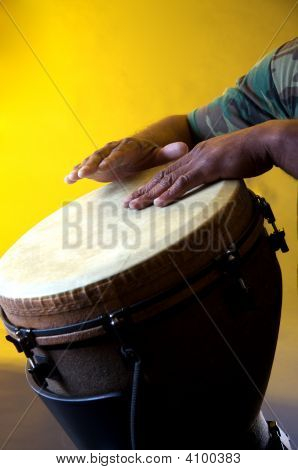 African Djembe With Hands