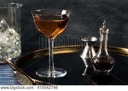 Boozy Refreshing Calvados Widows Kiss Cocktail