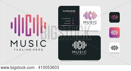 Letter C Music Logo And Business Card Vector Design Template. Logo Can Be Used For Icon, Brand, Iden