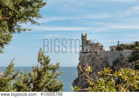 Swallow's Nest Castle On The Rock Over The Black Sea. Gaspra. Crimea
